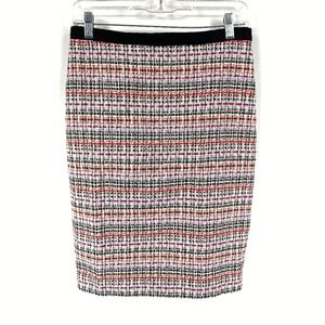 Talbots Multicolor Tweed Pencil Skirt Petites